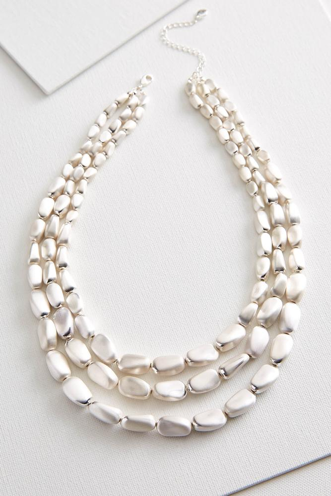 Natural Metal Bib Necklace