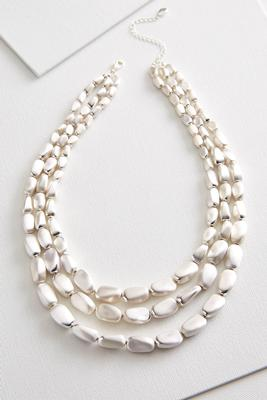 natural metal bib necklace