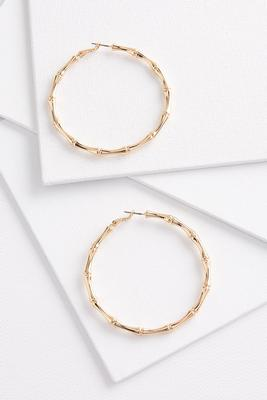 CANCELLED-bamboo hoop earrings