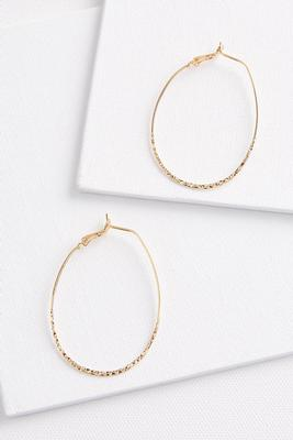 crushed hoop earrings