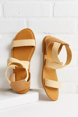 woven crossband sandals