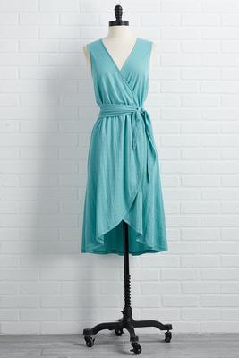 not over teal it`s over dress