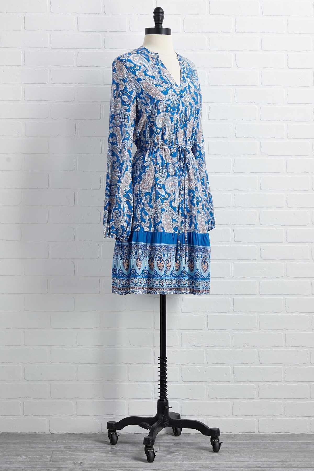 Blue Me Away Dress
