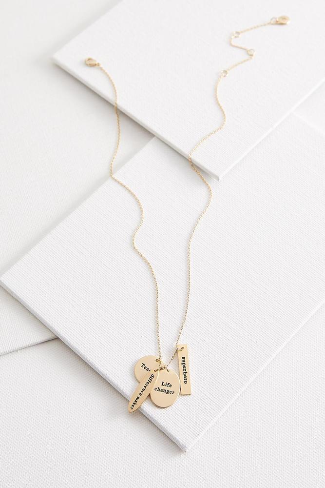 Teacher Cluster Pendant Necklace