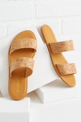 natural effect sandals