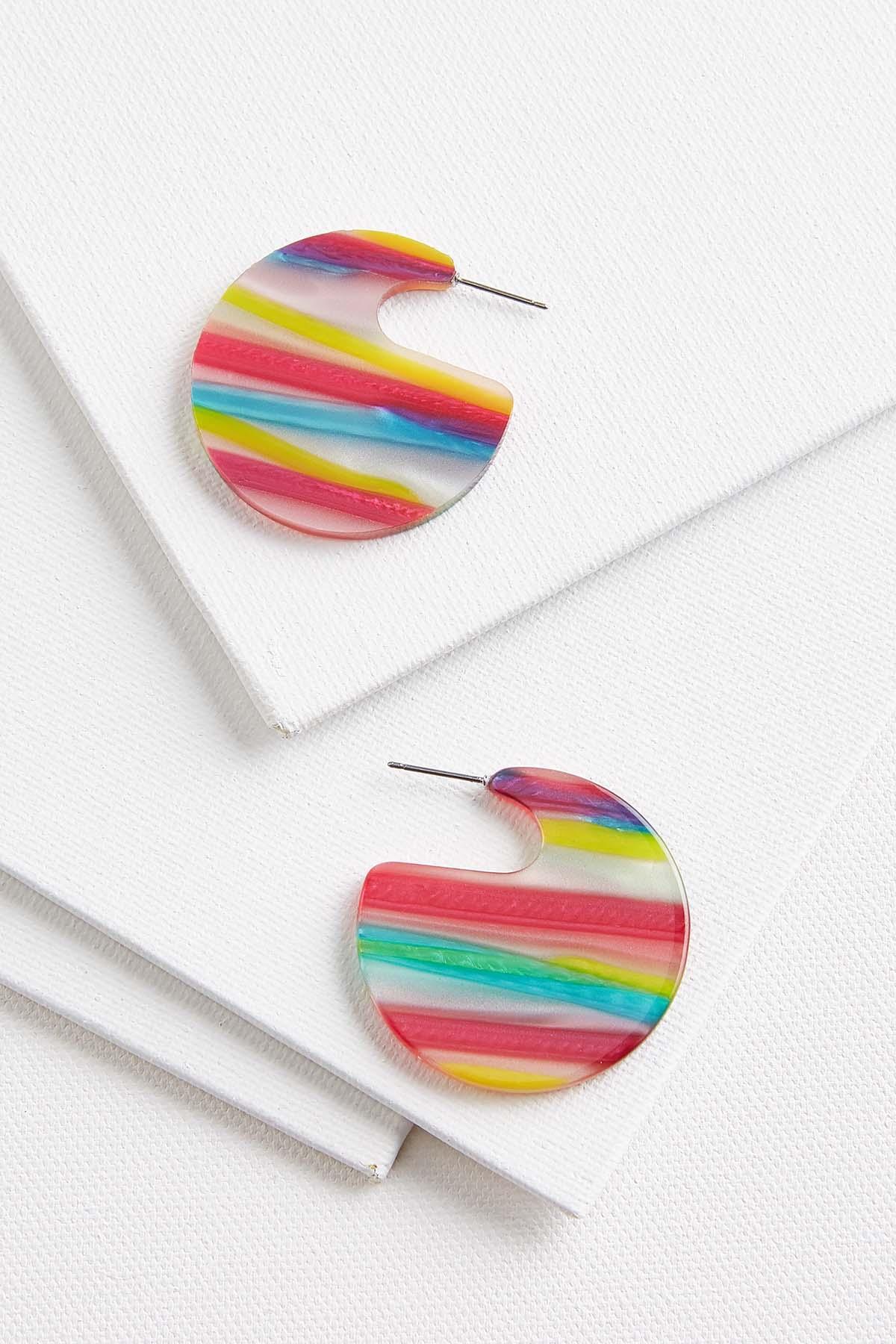 Rainbow Lucite Earrings
