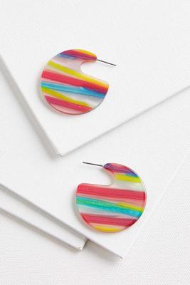 rainbow lucite earrings