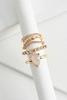 Rosy Midi Ring Set