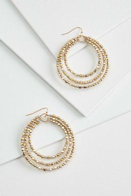 golden girl hoop earrings