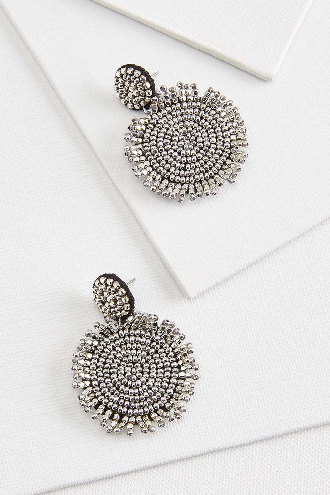 Metal Sun Earrings