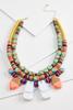 Rainbow Wooden Necklace
