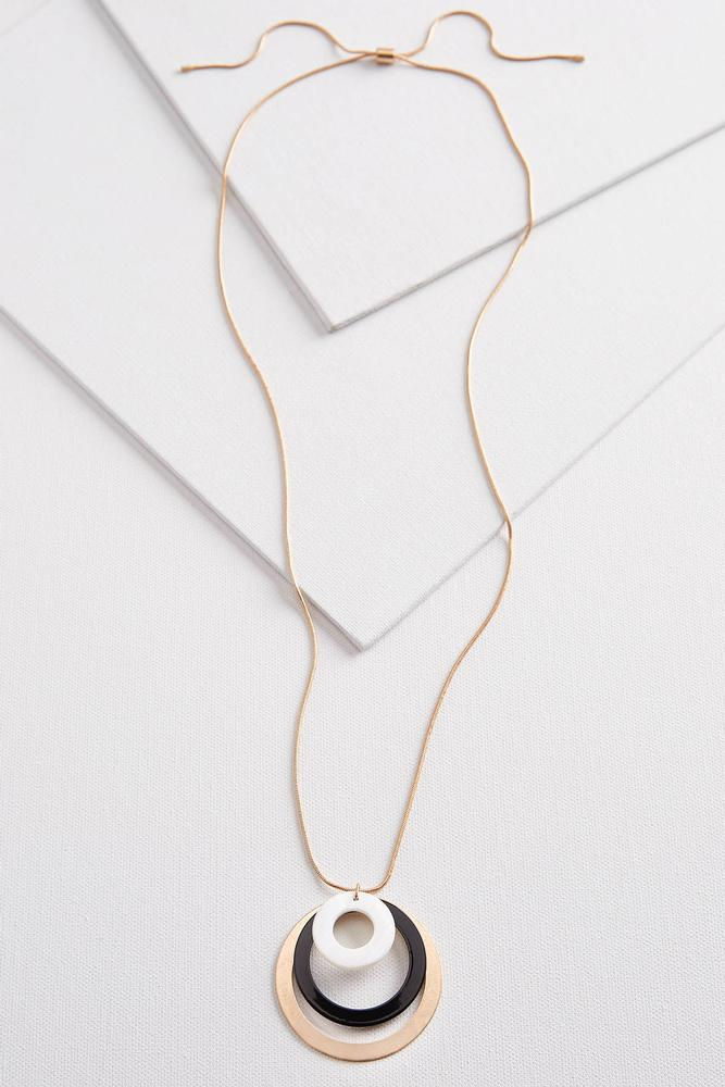 Multi Circle Pendant Necklace