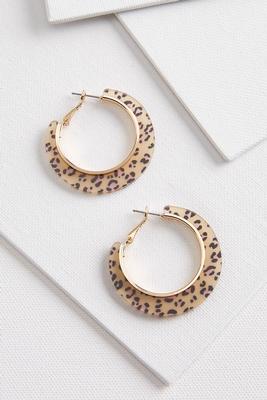 animal lucite hoop earrings