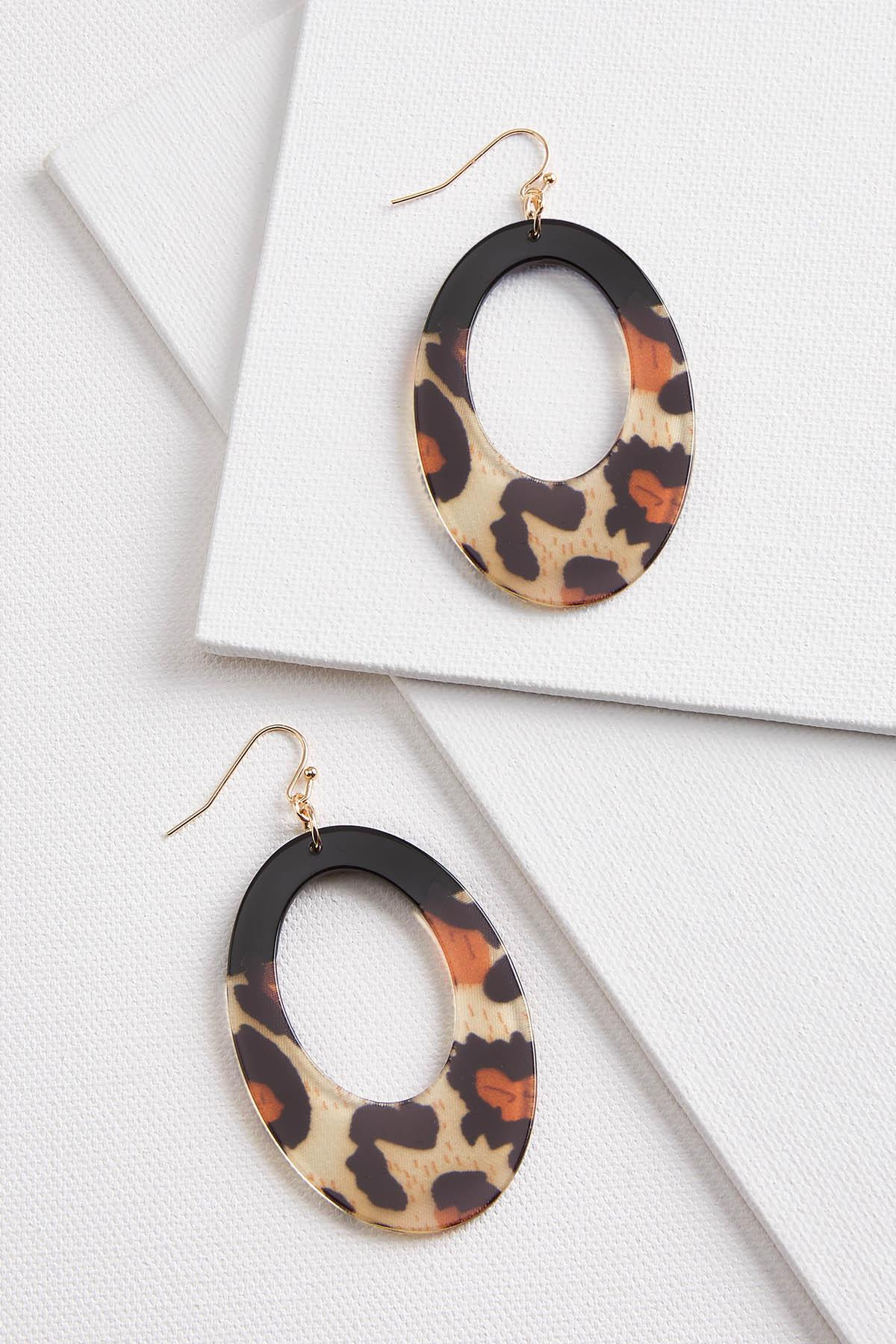 Oval Animal Earrings
