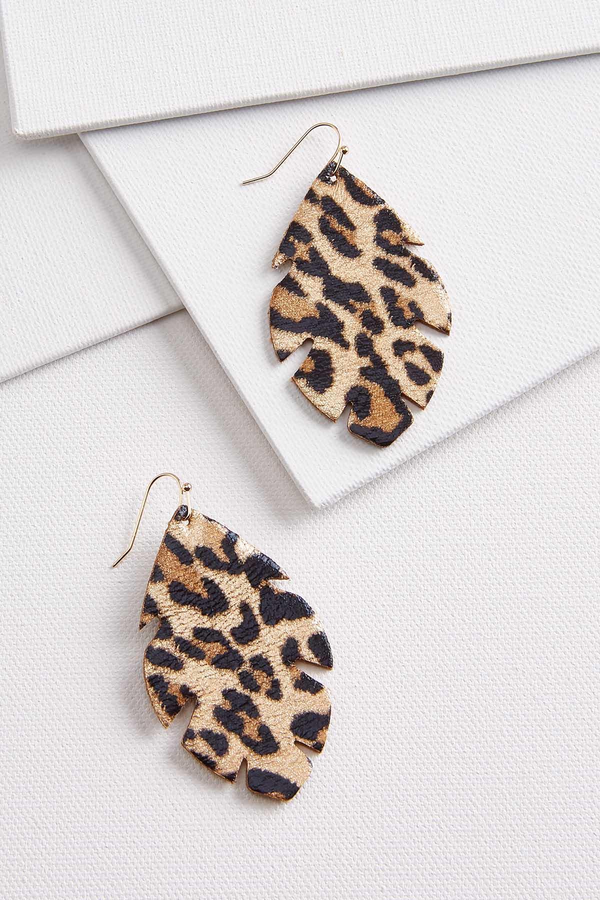 Leopard Leaf Earrings