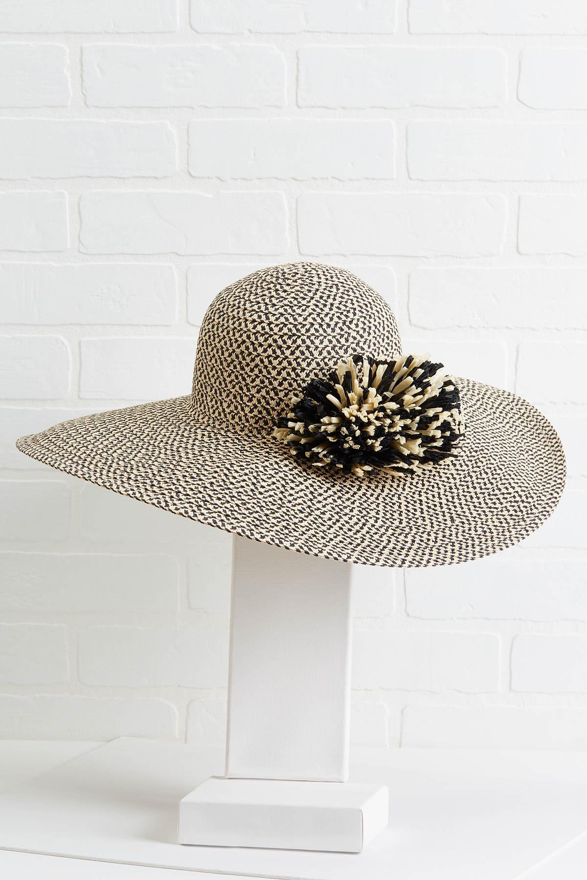 Two Tone Pom Hat