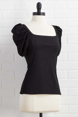 hot puff sleeve top