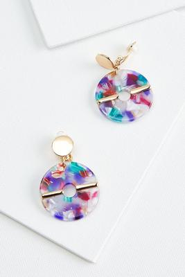 lucite donut earrings