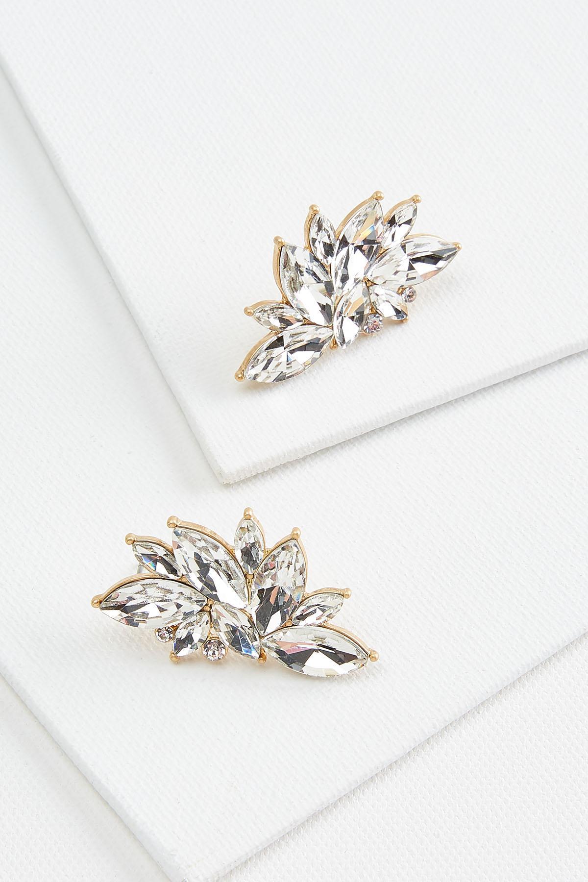 Glitzy Cluster Earrings