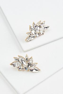 glitzy cluster earrings