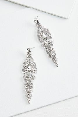 glam chandelier earrings