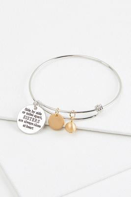 sisters bangle bracelet