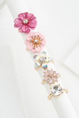 flower power ring set