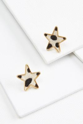 animal star earrings