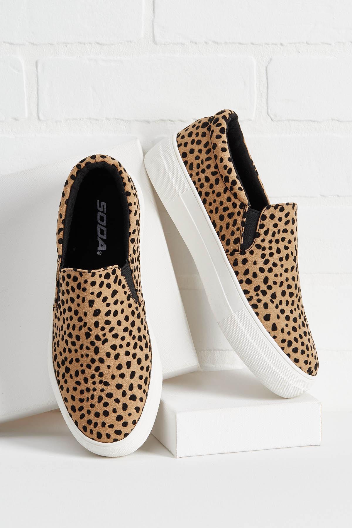 Leopard Slip On Sneakers