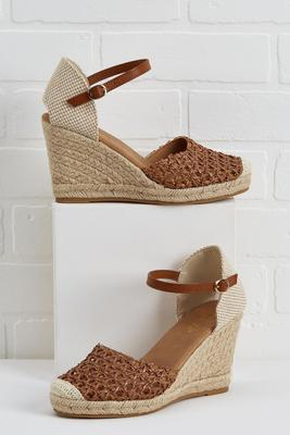 earth to espadrille wedges