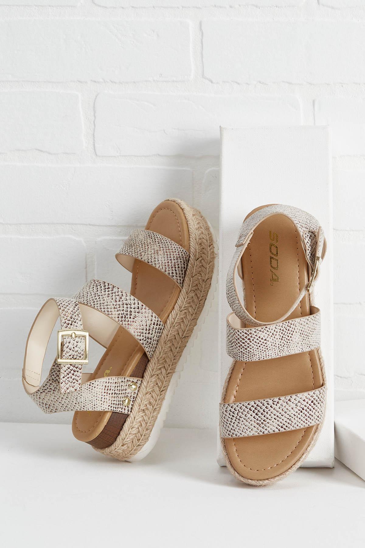 Snakeskin Flatform Sandals