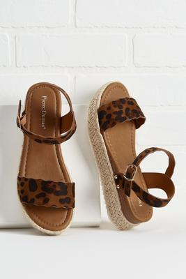 scalloped leopard flatform