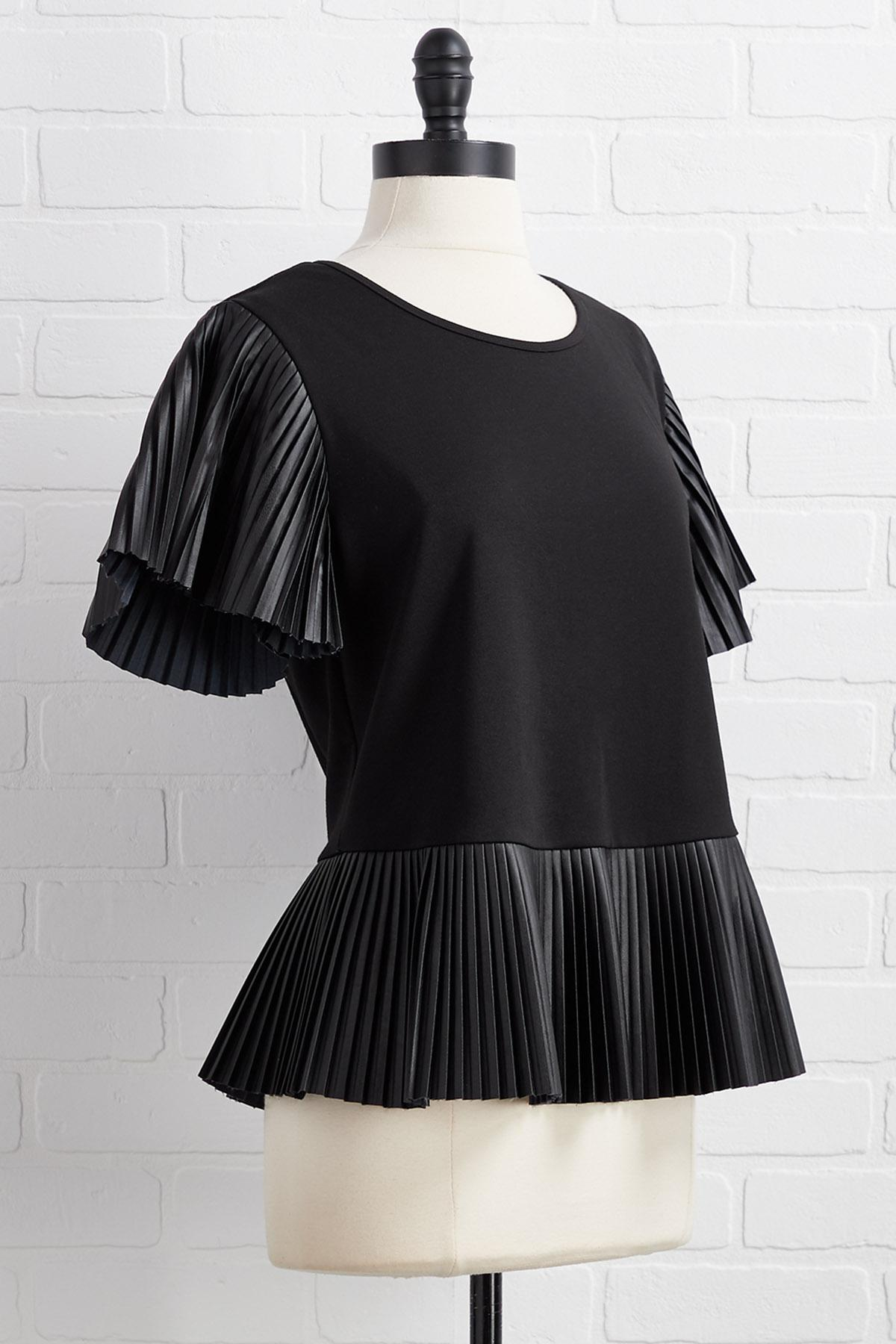 Do As You Pleats Top