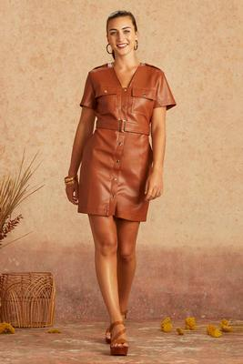 leather forecast dress