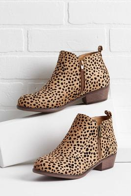 cheetah ankle booties