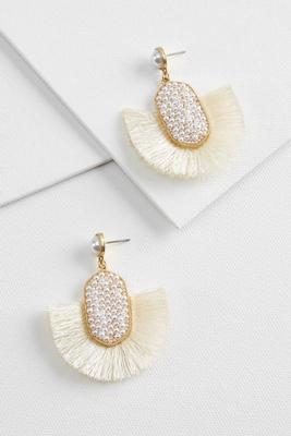 pearl power earrings