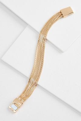 dainty multi chain bracelet