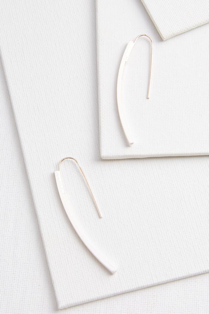 Linear Curved Earrings