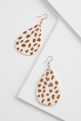 cow circle earrings