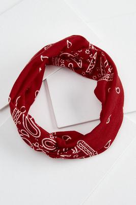 red bandanna headband