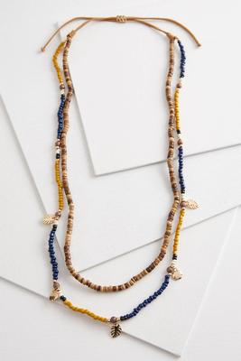 sun and sand layered necklace