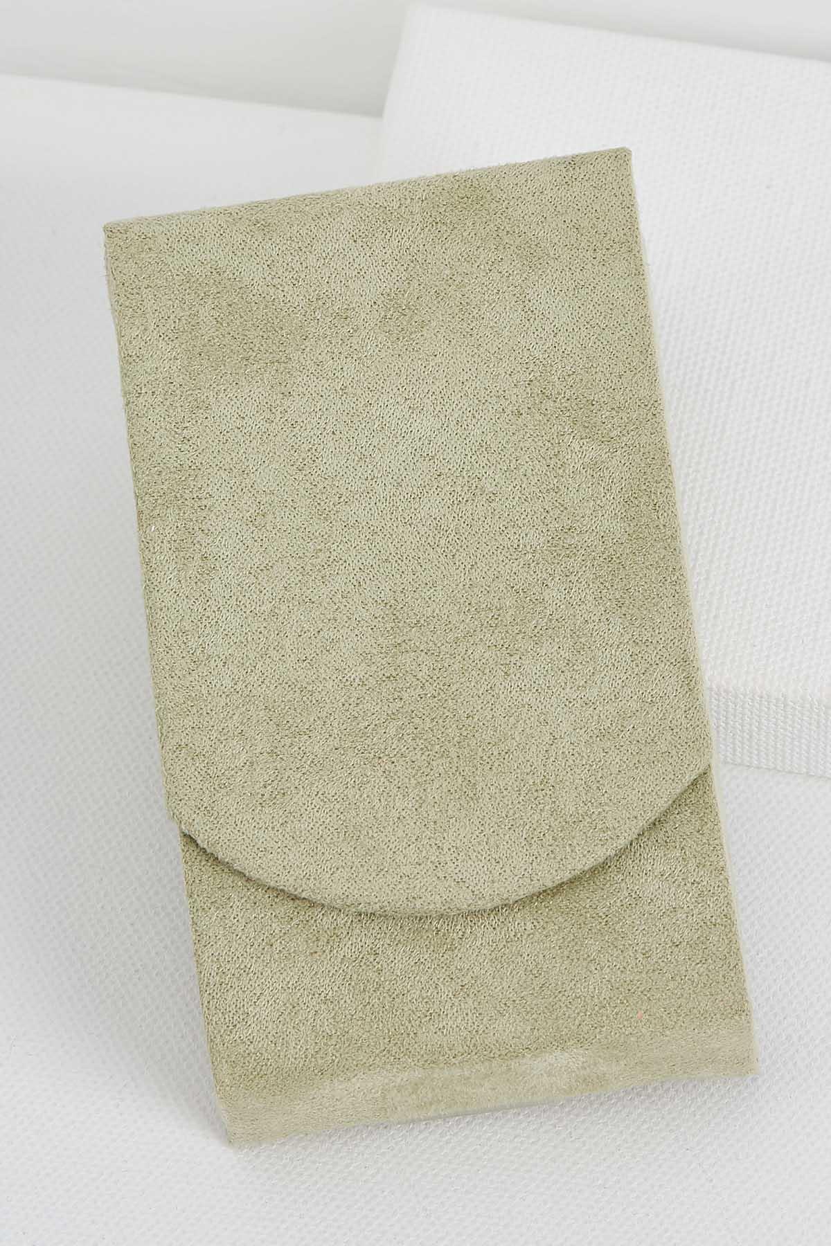 Faux Suede Sage Tissue Holder