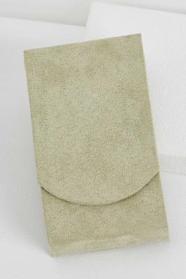 faux suede sage tissue holder