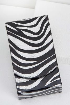 silver zebra tissue holder