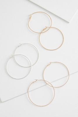 hoop earring trio set