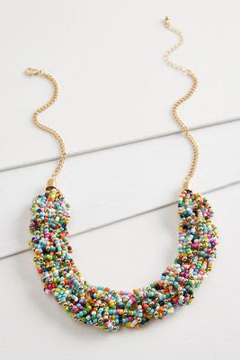 seedbead bib necklace