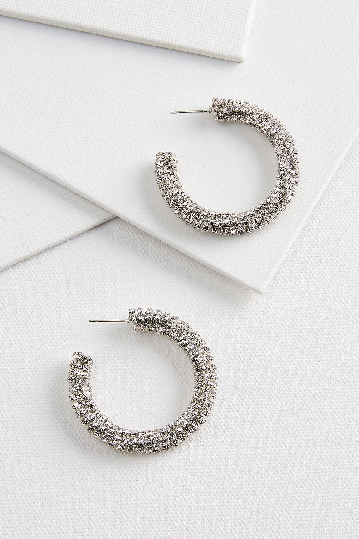 All That Glimmers Hoop Earrings