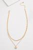 Layered Gold Disc Necklace