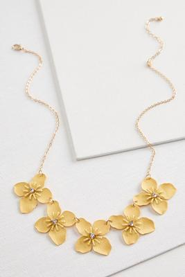 fancy flower bib necklace