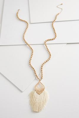 fancy filigree fringe necklace